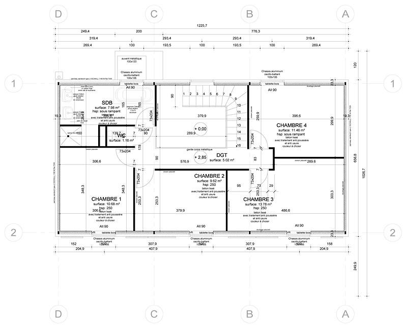 maison ossature mtallique poitiers - Plan Maison Structure Metallique